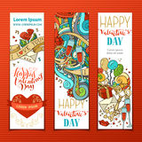Set of Valentine's banners. Stock Photos