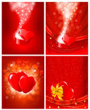 Set of Valentine`s day backgrounds. Royalty Free Stock Photography