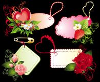 Set of Valentine's day banners Stock Photography