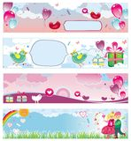 Set of Valentine's day banners 3 Stock Photo
