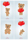 Set of valentine's day cards Stock Image
