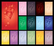 Set of valentine's day cards Stock Photo
