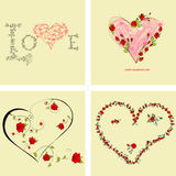 Set of Valentine's day cards Royalty Free Stock Image