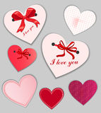 Set of valentine's day cards Royalty Free Stock Images