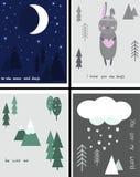 Scandinavian love day - vector illustration, eps vector illustration