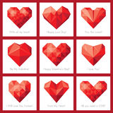 Set of Valentines day cards (+EPS) Royalty Free Stock Images