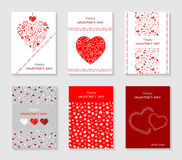 Set of Valentine`s Day cards Royalty Free Stock Image