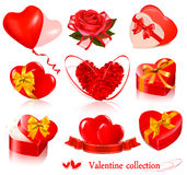 Set of Valentine's day elements. Royalty Free Stock Photography
