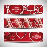 Set of Valentine's Day header designs Stock Photo