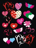 Set of Valentine's day hearts Royalty Free Stock Images