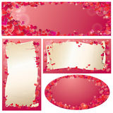 Set of Valentine`s Day horizontal, vertical, oval  Stock Photos
