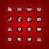 Set valentine's day icons Royalty Free Stock Image