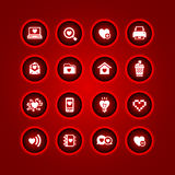 Set valentine's day icons Royalty Free Stock Photo