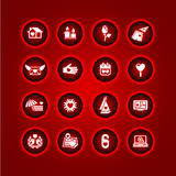 Set valentine's day icons Stock Photography