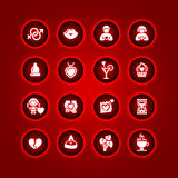 Set valentine's day icons Stock Images