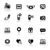 Set valentine\\\'s day icons, love Royalty Free Stock Images