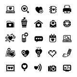 Set valentine's day icons, love on the Internet Royalty Free Stock Photography