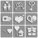 Set valentines day icons Stock Image