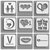 Set valentines day icons Royalty Free Stock Photos