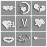 Set valentines day icons Royalty Free Stock Images