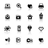 Set valentine\\\'s day icons, love symbols Stock Images