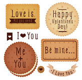 Set of Valentine's day label Royalty Free Stock Photo
