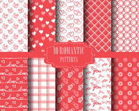Set of valentine's day pattern Royalty Free Stock Photos