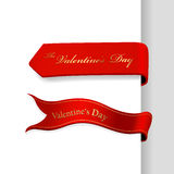 Set of Valentine's Day ribbons. Stock Images
