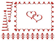 Set of Valentine's day ribbons Stock Photos