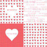 Set of Valentine's day seamless patterns with Stock Photo