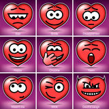 Set Valentine's Day Smiles Stock Photos