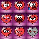 Set Valentine's Day Smiles Stock Image