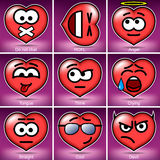 Set Valentine's Day Smiles Royalty Free Stock Images