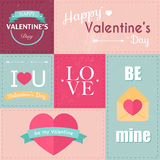 Set of Valentine's Day typographic tags and labels.  Royalty Free Stock Photography