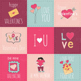 Set of Valentine's Day typographic tags and labels.  Royalty Free Stock Image