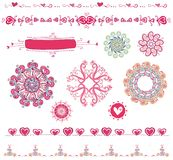 Set of Valentine's design ele. Vector collection of valentine icons, hearts, patterns, logos. To see more valentine stuff, please visit my gallery Stock Image