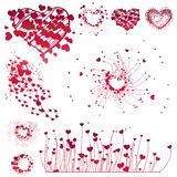 Set of Valentine's design elements. Vector illustration Royalty Free Stock Photography