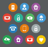 Set of valentines flat design icons Royalty Free Stock Image