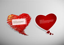 Set of Valentine's heart Royalty Free Stock Image