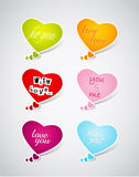 Set of Valentine's hearts. Royalty Free Stock Photo