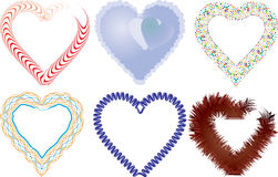 Set of valentine`s hearts, part 5, Royalty Free Stock Photos