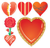 Set of valentine`s hearts, part 7 Royalty Free Stock Photography