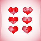 Set of Valentine's icons, design elements. Royalty Free Stock Photos