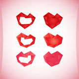 Set of Valentine's icons, design elements. Stock Photography