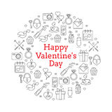 Set of Valentine's  icons Stock Images