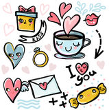 Set of Valentines icons Royalty Free Stock Images