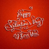 Set of valentine's and wedding typography. Royalty Free Stock Photo