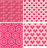 Set of Valentine seamless heart patterns Stock Image