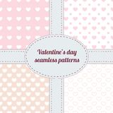 Set of Valentine seamless patterns Royalty Free Stock Images
