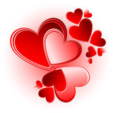 Set of valentine vector hearts Royalty Free Stock Photos